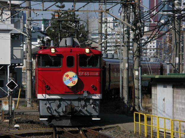 EF65-1118+14系客車ゆとり