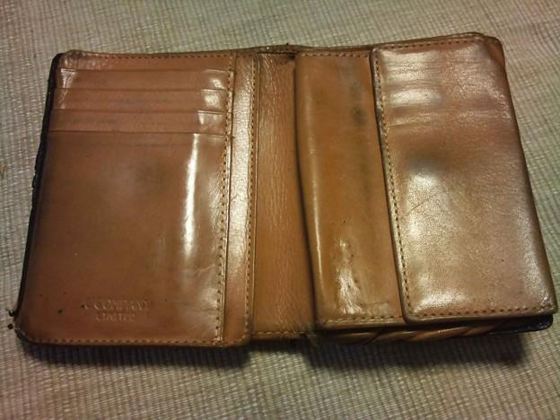 写真: 古い財布