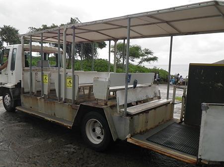 ハナウマ湾のトラム