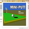 Photos: Chromeエクステンション:Mini Golf(スタート画面、拡大)