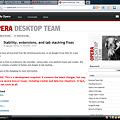 写真: Opera 11 Beta Build 1145:エクステンションボタン右クリックで設定表示