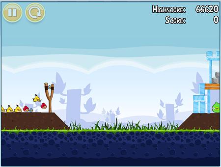 Chromeアプリ:Angry Birds(プレイ画面、拡大)2