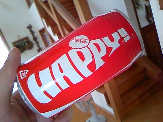 コカコーラのハッピー缶