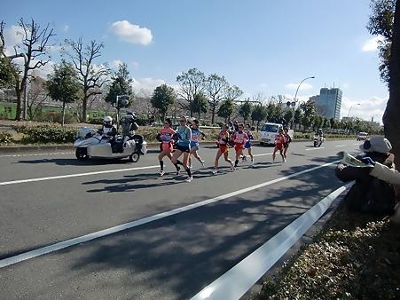 大阪女子マラソン往路15、5k