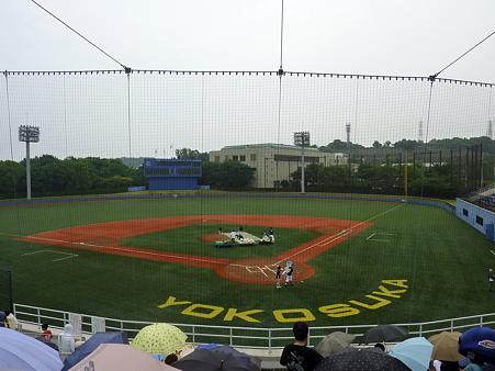 横須賀スタジアム 試合開始前