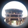 写真: 魚眼 神社