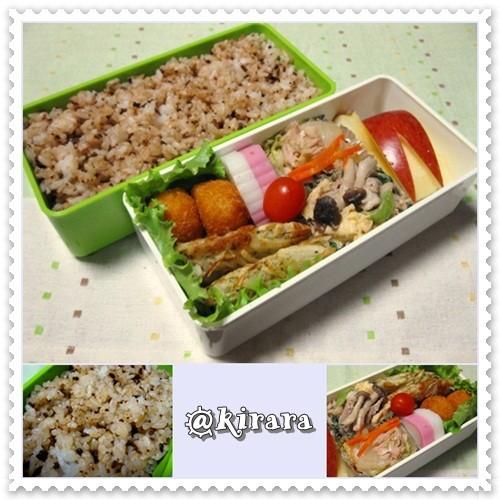 ◆11.11 しぐれ煮牛そぼろ混ぜご飯のお弁当(長男)♪