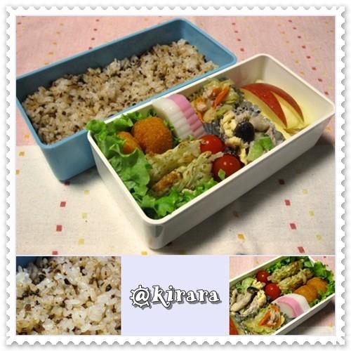 ◆11.11 しぐれ煮牛そぼろ混ぜご飯のお弁当(長女)♪