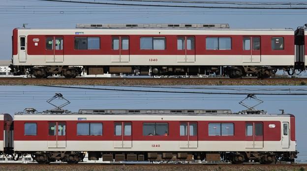 近鉄1240系1240F(VC40)海側側面 2011.11.13