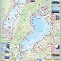 写真: びわ湖周遊サイクリングマップ