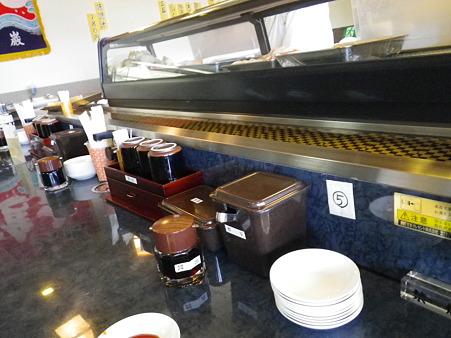 上越の湯 すし市場(北海寿司!?)店内の様子