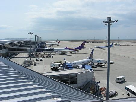 中部国際空港の国際線の様子