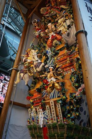 11 2014年 博多祇園山笠 博多駅の飾り山笠 軍師黒田官兵衛 (11)