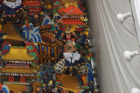 10 2014年 博多祇園山笠 福岡ドーム 飾り山笠 合戦大保原 (6)