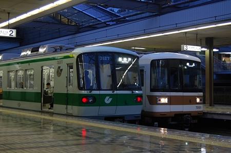 神戸市交3000形と北神急行7000系の並び