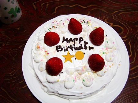 ha*naの誕生日ケーキ
