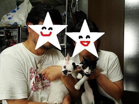 ニョッキ&ペンネ里親さんと家族写真