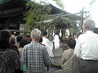 大祓式(茅の輪くぐり)