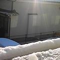 Photos: 昨日のミニマム即席雪だるま...