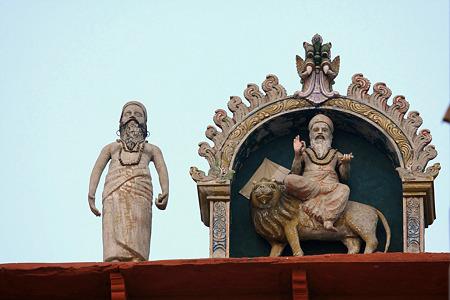 2010.02.01 インド バナーラス ガート 建物の上
