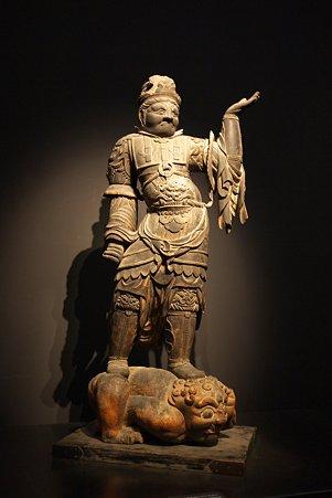 2010.11.15 東京国立博物館 彫刻 毘沙門天立像 平安時代
