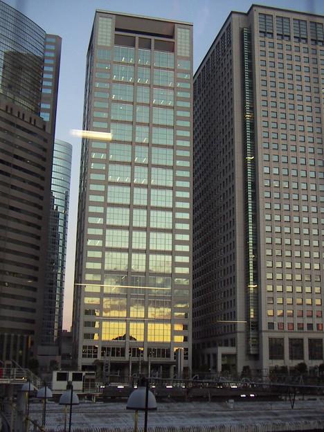 品川駅で見えた夕焼け 3