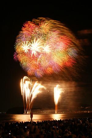 花火の彩り、逗子海岸4!(20100826)