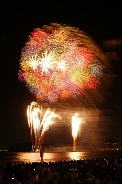 Photos: 花火の彩り、逗子海岸4!(20100826)