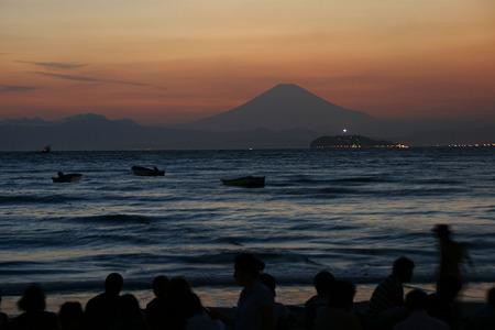 影富士と江ノ島灯台!(20100826)