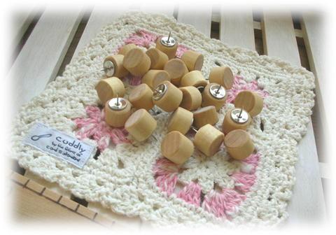 木製プッシュピン ナチュラル