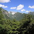 写真: 100721-64蝶ヶ岳登山・槍見台からの槍ヶ岳
