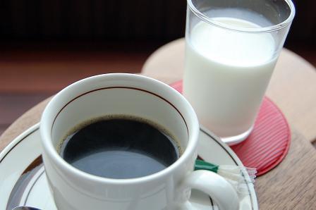 コーヒー、牛乳