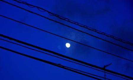 Photos: 五線譜の中の月