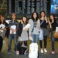 Photos: 渡航日、成田にて