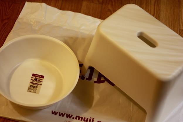 無印良品の風呂イス&洗面器