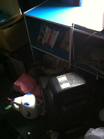 被災後の部屋