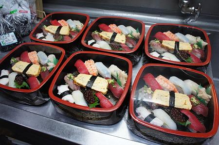 お昼にお寿司屋さんのお寿司