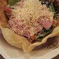 写真: ピザ風シーザーサラダ