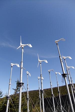 夏沢峠の風車