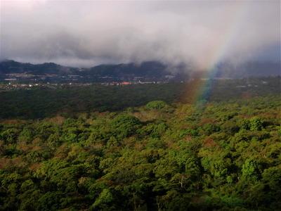 ベランダから見える景色〜虹〜