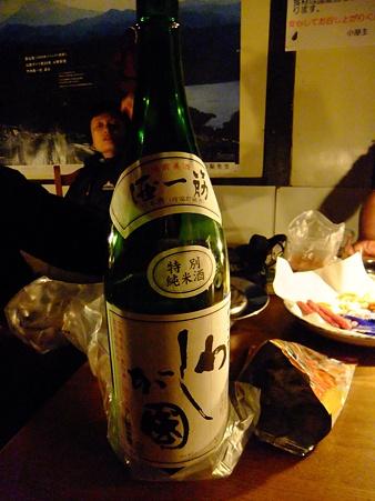 ご主人差し入れの日本酒